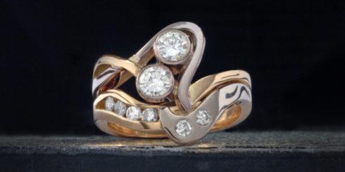 'Pink' Ring Set