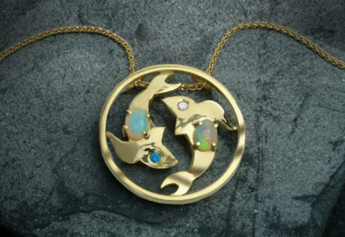 Scottish Gold 'Pisces' Pendant