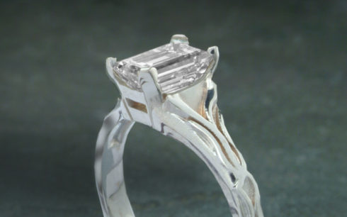 Vintage Emerald Cut Diamond Ring