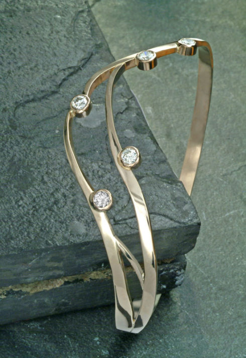 Floating Diamond Bangle