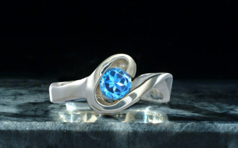 Unity Ring with Topaz