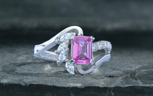 'Ice' Pink Sapphire Ring