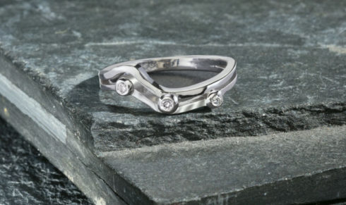 Scatter Diamond Wedding Ring