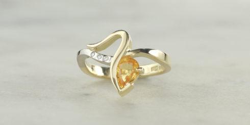 Canari Yellow Sapphire & Diamond Ring