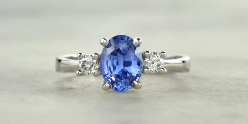 Trinity Sapphire & Diamond Ring