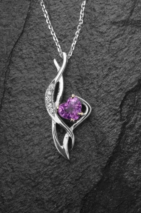 Lilac Sapphire Pendant