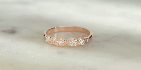 Vintage Crossover Diamond Ring