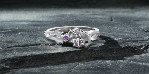 Thistle Inspired Engagement Ring
