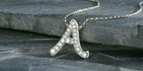 Initial Pendant in Diamonds