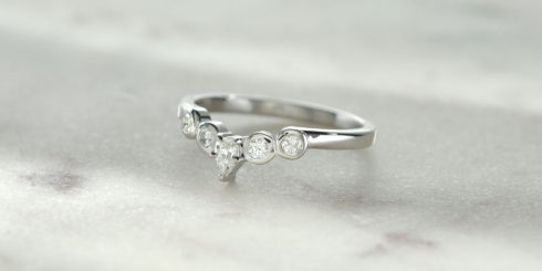Floral Pear Diamond Ring