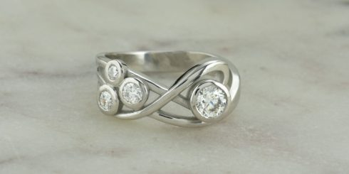 Clouds Diamond Ring