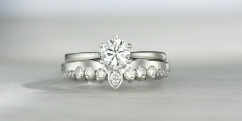 Diamond Engagement and Wedding Ring