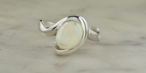 Unity Silver & Opal Dress Ring