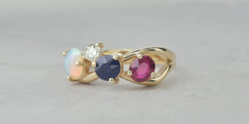 Remodelled gemstones into ring & matching pendant.