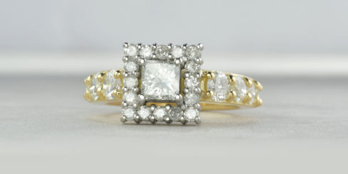 Remodelled Halo Engagement Ring