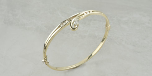 Remodelled Gold Bangle
