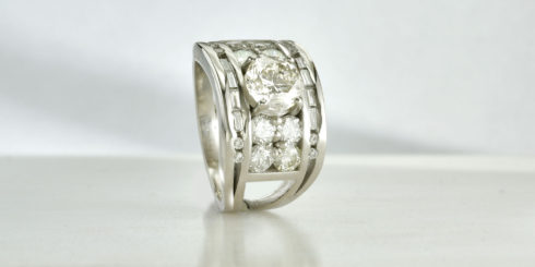 Remodelled Diamond into Platinum Ring