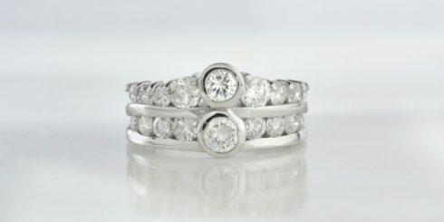 Remodelled Diamond Ring in Platinum