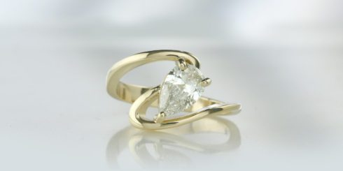 Candy 14ct Yellow Gold Diamond Ring