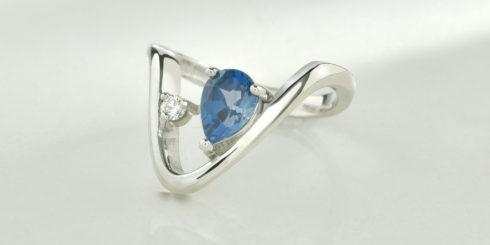 Valley Silver, London Blue Topaz & Diamond